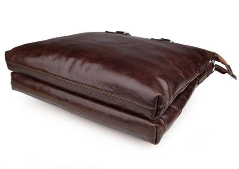 Image of 'Oliver' Leather Business Bag Briefcase Document Case-Universal Store London™