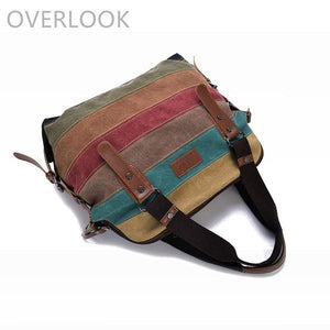 'Olivia' Vintage Canvas Shoulder Bag Handbag-Universal Store London™