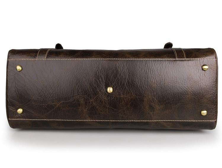 'Olympus' Leather Duffle Bag-Universal Store London™