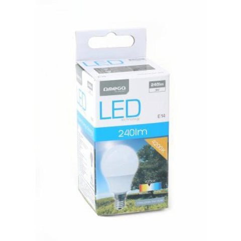 Omega Light bulb Round E14 3W 240lm Natural-Universal Store London™