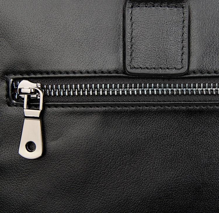 'Opus' Leather Laptop Briefcase - Black-Universal Store London™