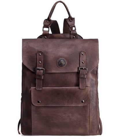 Original Design Handmade Top Grain Leather Backpack-Universal Store London™