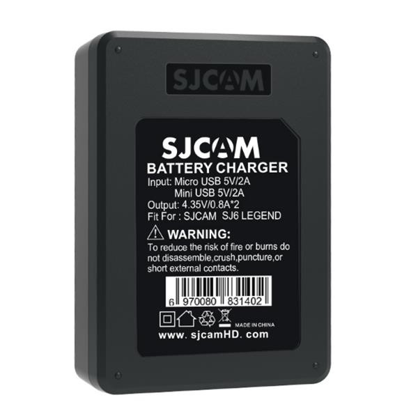 Original SJCAM Accessories Travel Desktop Charger Dual-slot Charger for SJCAM SJ6 Legend Sports Action Camera-Universal Store London™