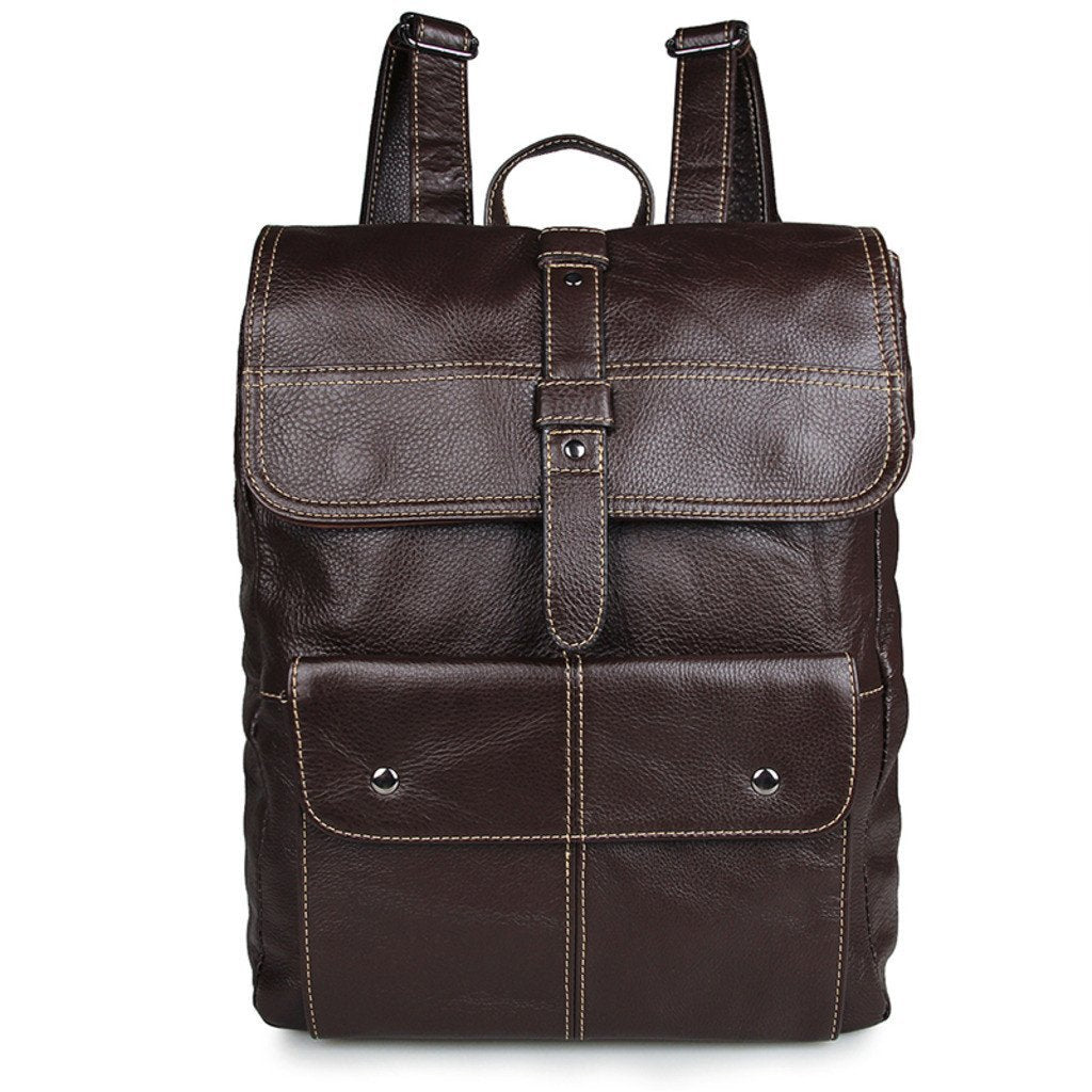 'Oxford' Saddle Leather Backpack - Brown-Universal Store London™