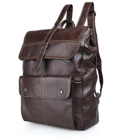 Image of 'Oxford' Saddle Leather Backpack - Brown-Universal Store London™