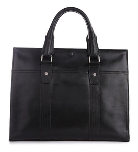 'Pall Mall' Leather Business Bag - Black-Universal Store London™