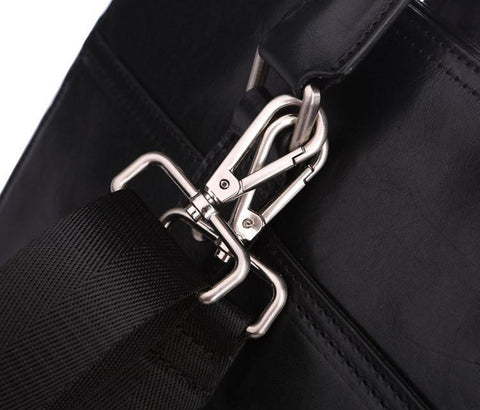 Image of 'Pall Mall' Leather Business Bag - Black-Universal Store London™