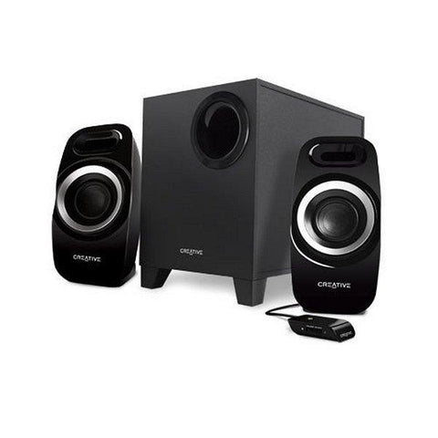 PC Speakers Creative Technology T3300 51MF0415AA000 2.1 27W 75 DB Black-Universal Store London™