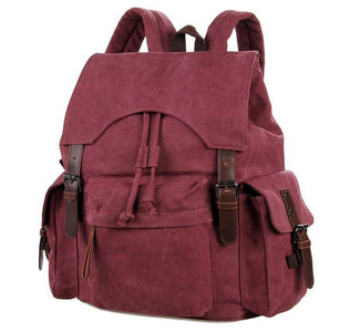 'Pittsburgh' Classic Canvas and Genuine Leather Backpack-Universal Store London™
