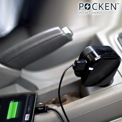 Image of Pocken Dual USB Mains and Car Charger-Universal Store London™