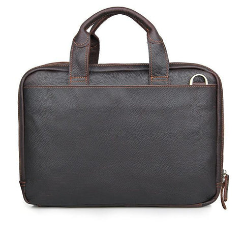 Image of 'Portobello' Full Grain Leather Briefcase & Messenger Bag - Chocolate Brown-Universal Store London™
