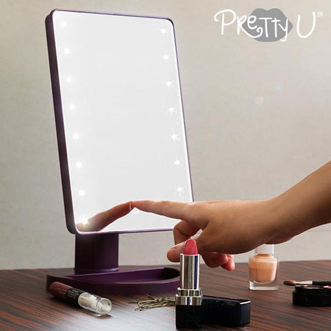 Image of Pretty U Tabletop LED Mirror-Universal Store London™