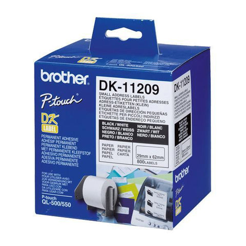 Printer Labels Brother DK11209 62 x 29 mm White-Universal Store London™