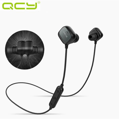 QCY QY12 Sport Magnetic Adsorption Stereo Wireless Bluetooth 4.1 Headphone-Universal Store London™