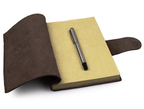 Image of Refillable Antique Brown Full Grain Italian Leather Journal-Universal Store London™