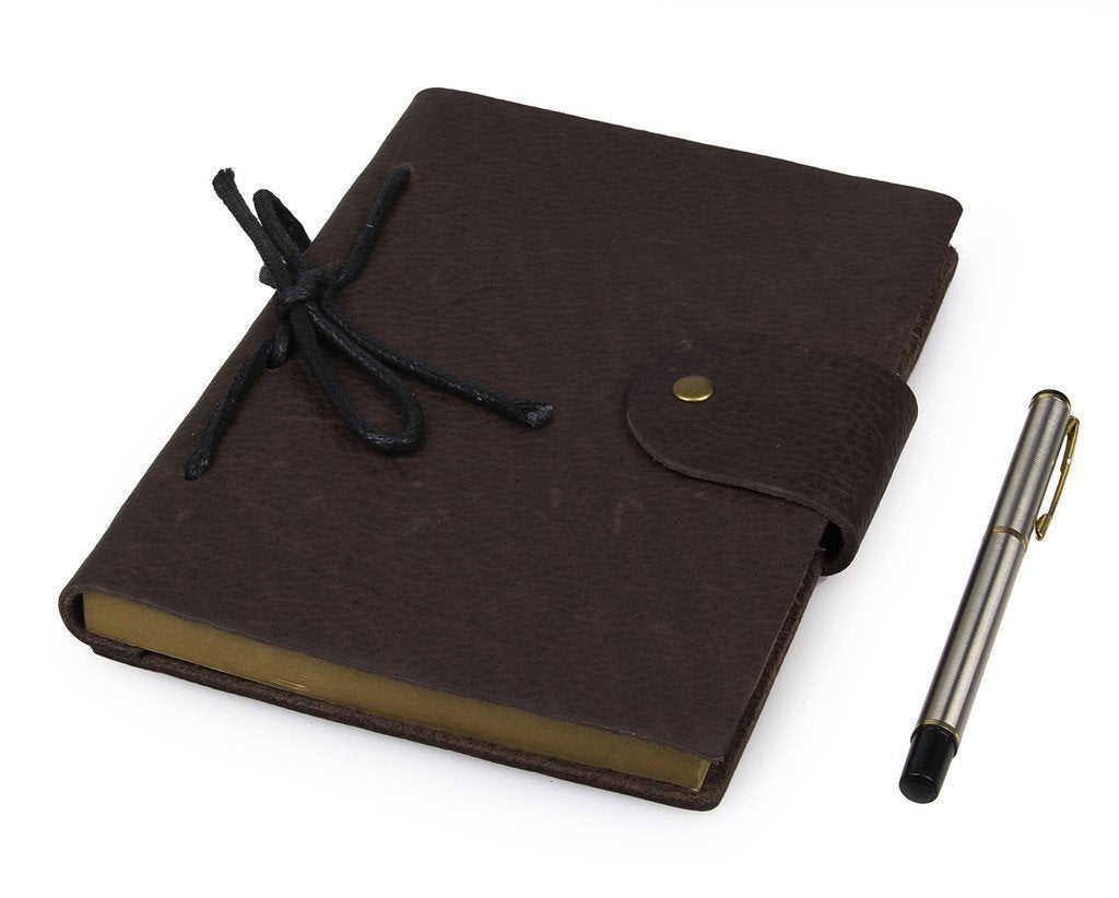 Refillable Antique Brown Full Grain Italian Leather Journal-Universal Store London™