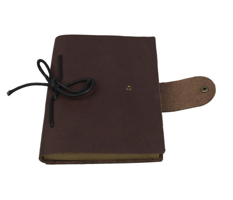 Refillable Antique Brown Smooth Italian Leather Journal-Universal Store London™