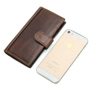 RFID Protector Genuine Leather Wallet - USLR-8120Q