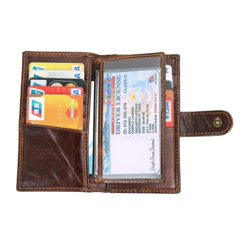 Image of RFID Protector Genuine Leather Wallet - USLR-8120Q-Universal Store London™