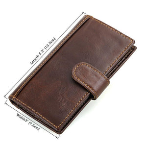 RFID Protector Genuine Leather Wallet - USLR-8120Q-Universal Store London™