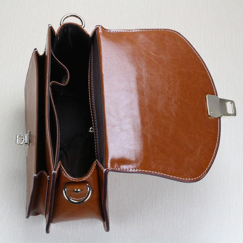 Image of Richmond Handmade Full Grain Leather Satchel-Universal Store London™