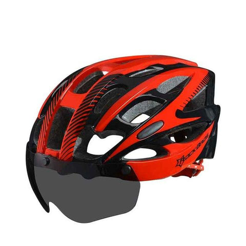 ROCKBROS Bicycle EPS Helmet With Lenses Integrally-molded 28 air vents Cycling Bike Equipment Helmet Casco Ciclismo Free Size-Universal Store London™