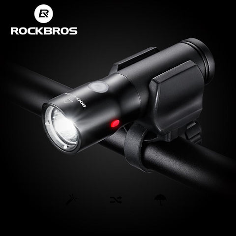 ROCKBROS Bicycle Front Light Power Bank Waterproof USB Rechargeable Bike Light Side Warning Flashlight 700 Lumen 2000mAh 6 Modes-Universal Store London™
