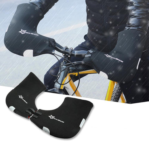 Image of ROCKBROS Winter Cycling Gloves Waterproof Warm Cycling Hand Guards Handlebar Muffs-Universal Store London™