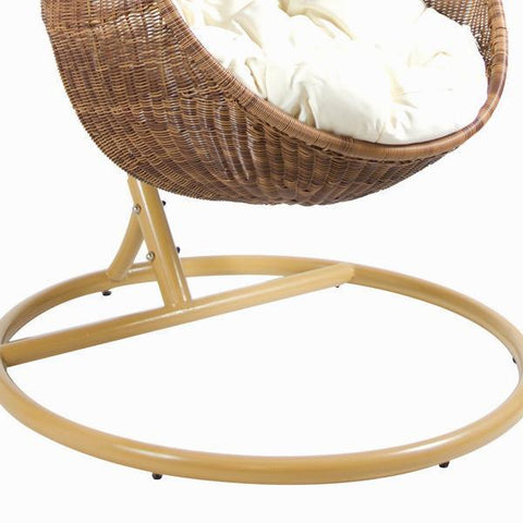 Rocking chair with white cushion by Craften Wood-Universal Store London™
