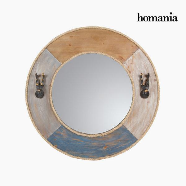 Round metal mirror by Homania-Universal Store London™