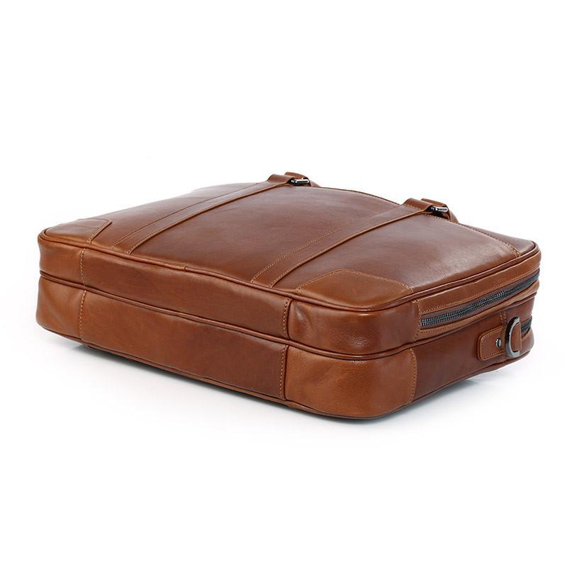 Salisbury Leather Briefcase - Brown-Universal Store London™