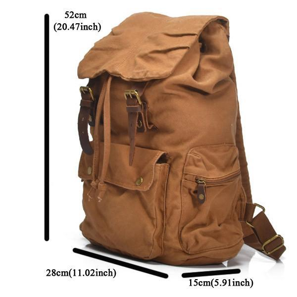 Sandhill Unisex Canvas Backpack Genuine Leather Straps-Universal Store London™