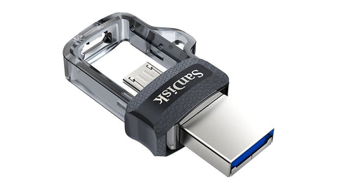 Image of SanDisk Ultra Dual M3.0 16GB 130MB/s microUSB & USB 3.0 Flash Drive-Universal Store London™