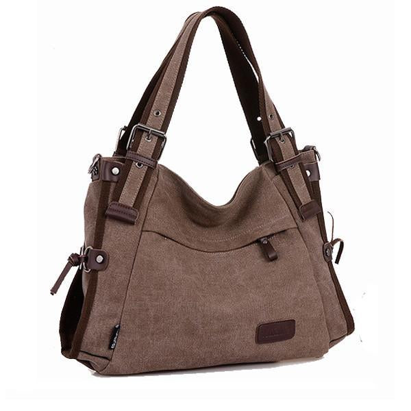 'Sardinia' Canvas Hobo Crossbody Bag Shoulder Bag-Universal Store London™