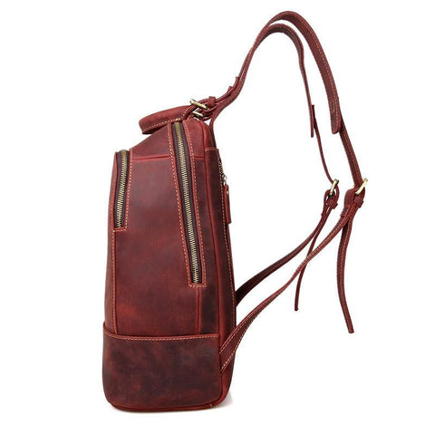 Image of 'Selena' Handmade Leather Backpack - Russet-Universal Store London™