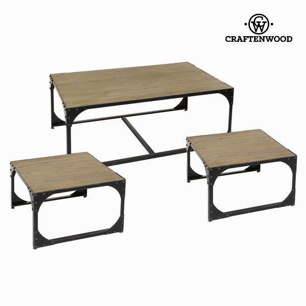 Set 3 metal coffee tables toronto - Thunder Collection by Craften Wood-Universal Store London™