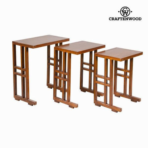 Set of 3 brown nest tables - Serious Line Collection by Craftenwood-Universal Store London™