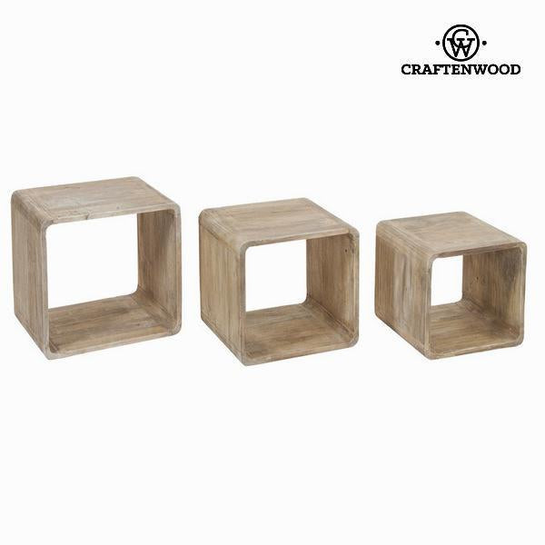Set of 3 wooden cubes - Pure Life Collection by Craften Wood-Universal Store London™