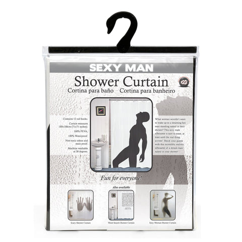 Image of Sexy Man Shower Curtain-Universal Store London™
