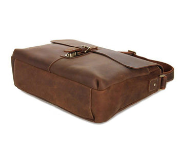 Shadow Leather Messenger Bag - Brown-Universal Store London™