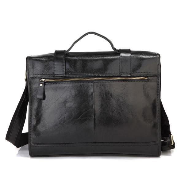 Shiny Vintage Genuine Leather Briefcase-Universal Store London™