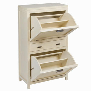 Shoe rack with 2 drawers - Serious Line Collection by Craften Wood