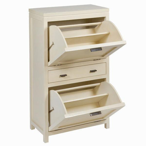 Shoe rack with 2 drawers - Serious Line Collection by Craften Wood-Universal Store London™