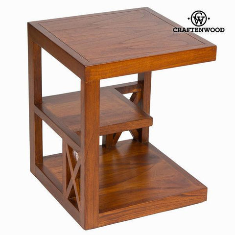 Side table with forest shelving - Chocolate Collection by Craftenwood-Universal Store London™