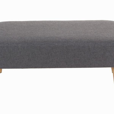 Image of Sixty grey rectangular bench - Love Sixty Collection by Craften Wood-Universal Store London™
