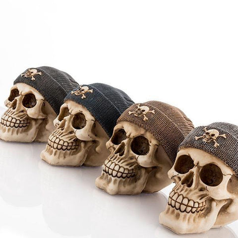 Image of Skull Money Box with Pirate Hat-Universal Store London™