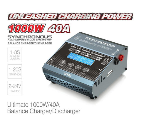 Image of SkyRC Synchronous DC Charger 1000W 40A-Universal Store London™
