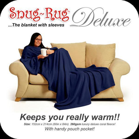 Image of Snug Rug DELUXE ADULT - Navy-Universal Store London™