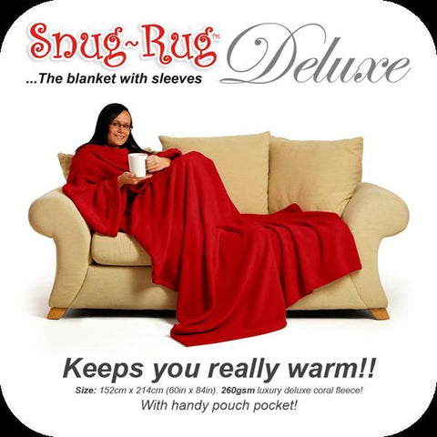 Image of Snug Rug DELUXE ADULT - Red-Universal Store London™