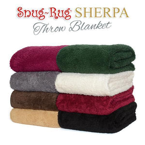 Snug-Rug Sherpa Throw Blanket - Cream-Universal Store London™